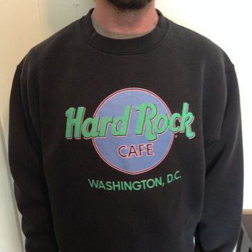 Vintage 1980's crew neck Hard Rock Cafe sweatshirt