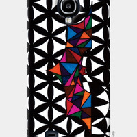 Bordered Floral Batman Samsung S4 Cases | Geometric | Triangle | Absttract | Artist: Subham Lohani