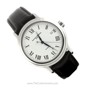 Raymond Weil Maestro Automatic Dress Watch White Roman Numeral Dial 2837
