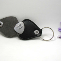 Personalized Guitar Pick - Father's Day Gift - Handstamped Guitar Pick - Aluminum Pick - Mens Gift - Custom Guitar Pick - Stamped Pick