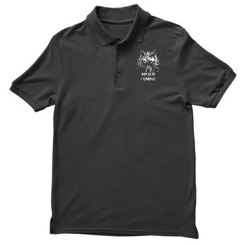 game of thrones direwolf winter is coming Polo Shirt
