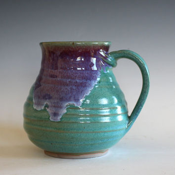 LARGE Coffee Mug, 22 oz, unique coffee mug, ceramic cup, handthrown mug, stoneware mug, pottery mug, ceramics and pottery