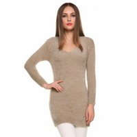 Fashion Woman Ladies Long Sleeve Soft Stretch Bodycon Package Hip Slim Long Sweater
