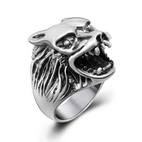 New Arrival Jewelry Gift Shiny Stylish Vintage Titanium Ring [6544866371]