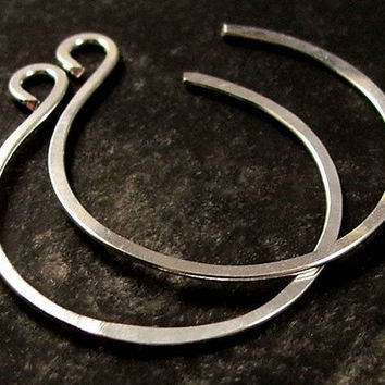 Lightweight Small Silver Hoop Earrings, Comfortable Small Hoop Earrings