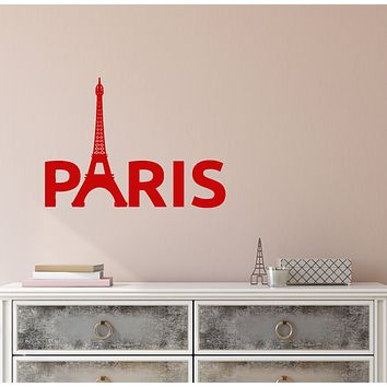 Vinyl Wall Decal France Paris Eiffel Tower Journey Travel Agency Stickers (3797ig)