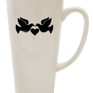 Two Turtle Doves 16 Ounce Conical Latte Coffee Mug
