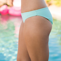 Margaritas In Mexico Seamless Cheeky Bikini Bottom (Mint)