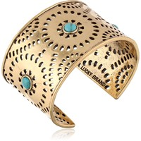 "Lucky Brand ""Cleobella"" Gold-Tone Perforated Cuff Bracelet, 6.25"""