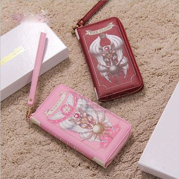 New Arrival Cosplay Animal Card Holder PU Leather Zipper Long Purse Cute Clutch Wallets for Girls Money Bags Ladise