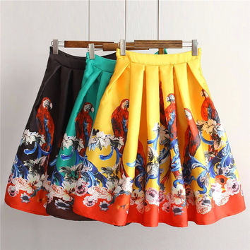 Summer Women's Fashion High Rise Print Skirt [4920261252]
