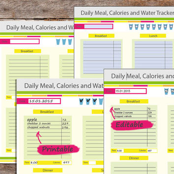 "Fitness Planner, Health Planner, Weight Loss Planner, fitness planner printable, fitness planner editable, 8.5 x 11"" PDF, Instant download"