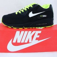 Nike Air Max 90 Lime Green Black Running Shoe - Beauty Ticks