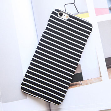 High Quality Fashion Black and White Zebra Stripes Frosted Case For iphone 7 Case For iphone7 6 6S / Plus 5 5S Phone Cases Cover -0316