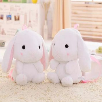 Loli bunny backpack squirrel The loppy eared rabbit small white rabbit cos plush bags children lovely girl and baby