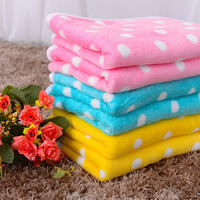 Cute Pet Puppy Dog Cat Blanket Dot Soft Warm Fleece Mats Bed Cover for Small Medium Large dogs Chihuahua/Teddy Pet Supplies