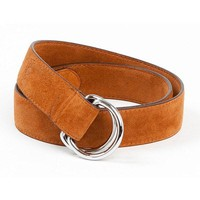 Handmade Cow Suede Leather Belt