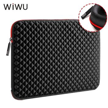 WIWU 13.3 15.6 17 17.3 inch Laptop Sleeve Waterproof Shockproof Diamond Skin Notebook Case Bag For Macbook Pro Xiaomi Air 13 15