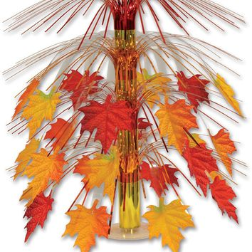 Fabric Fall Leaves Cascade Centerpiece - CASE OF 12