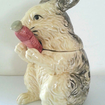 Japanese Pottery Rabbit Jam Pot Haldon Group