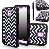 Note 3 Case, E LV Galaxy Note 3 Case - Shock-Absorption / High Impact Resistant Hybrid Dual Layer Armor Defender Full Body Protective Case Cover (Hard Plastic with Soft Silicon) for Samsung Galaxy Note 3 N9000 (AT&T, Verizon, Sprint, T-Mobile, Internationa