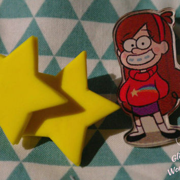 Mabel Gravity Falls star earrings