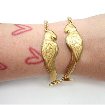 parrot bracelet set - parrot pair jewelry