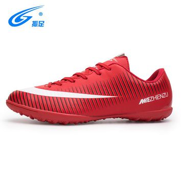 ZHENZU Soccer Shoes Men Brand Breathable Indoor Concrete Floor Children Football Boots Sneakers Brand Sport Shoes Super Cleats