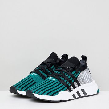 adidas Originals EQT Support Mid Adv Primeknit Sneakers In Green at asos.com