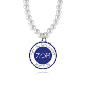 ZETA PHI BETA Sorority  Pearl Necklace