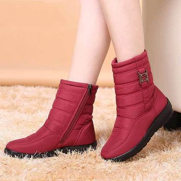 2017 New Arrival Ladies Snow Boots Winter Keep Warm Antiskid Boots Shoes Fashion Water