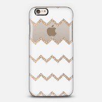 Chevron & Gold for iPhone 6 Transparent case iPhone 6 case by Monika Strigel | Casetify