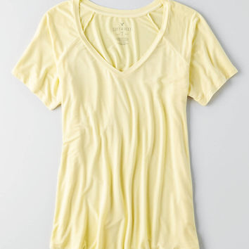 AEO Soft & Sexy V-Neck Favorite T-Shirt , Red