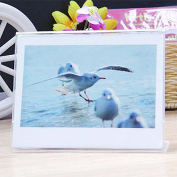 Transparent Photo Frame Acrylic Film Holder for Fujifilm Instax Wide 300 210 200 100 Film