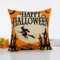 Halloween decorative throw pillows home decorative throw pillow pillowcase for the pillow 45*45 emoji pillow