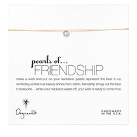 Dogeared Pearls Of Friendship On Gold Silk Thread Necklace