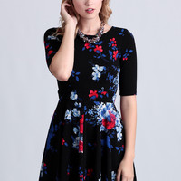 Kiss Me At Midnight Floral Dress