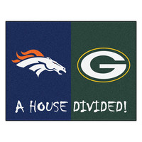 Broncos - Packers NFL House Divided NFL All-Star Floor Mat (34x45)