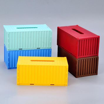 Creative Container Napkin Holder Tissue Box Cartoon Plastic Colorful Tissue Tissue Box Case #15
