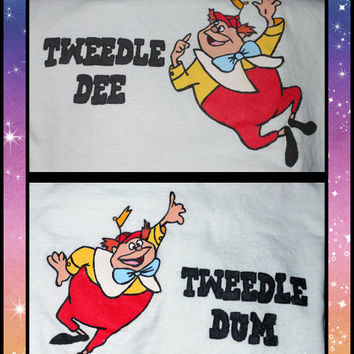 Best Buddies - Tweedle Dee and Tweedle Dum Disney Matching T-Shirts