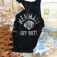 Mermaid Off Duty Tank - Black