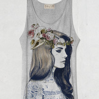 Lana Del Rey  Grey Tank Top Shirt