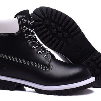 Timberland Rhubarb Boots 2018 Black White For Women Men Shoes Waterproof Martin Boots