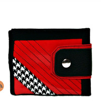 Vegan Wallet, Cool Wallet, Ferrari Red, UNUSUAL Wallet for Men, for Women with Coin Pocket, Card Holder