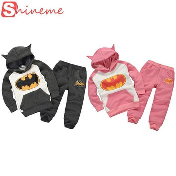 Batman Dark Knight gift Christmas kids boys hoodies sweatshirts for girls autumn winter baby children batman coat set cute superhero hoodie with ears hoody AT_71_6
