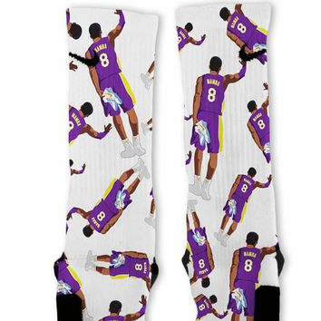 retro kobe mamba custom nike elite socks  number 1