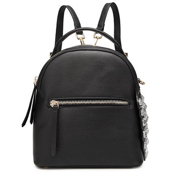 Top Handle Leather Backpack