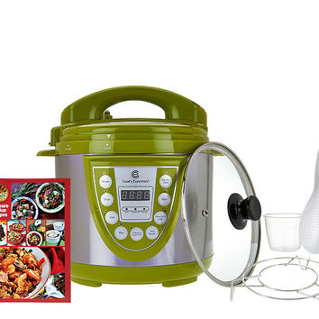 Cook's Essentials 4qt. SS Digital Pressure Cooker w/ Glass Lid — QVC.com