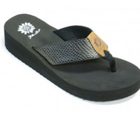 Yellow Box Margot Black Flip Flops
