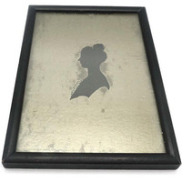Female Framed Silver Silhouette By Anne Orr